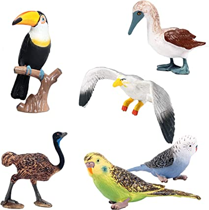 Realistic PVC Seagull Bird Model Figurine Action Figures Toy Collectables