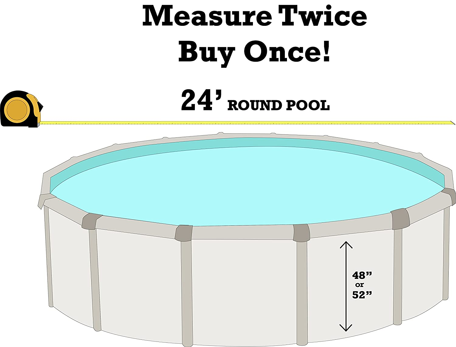 48-to-52-Inch Wall Height 20 Gauge Virgin Vinyl Designed for Steel Sided Above-Ground Swimming Pools Overlap Style Smartline Antilles Dolphin 24-Foot Round Liner