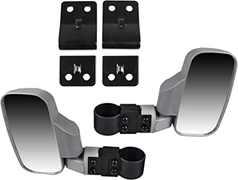 NICHE Black Offroad Break-Away Side View Mirror Set for UTV Side x Side Utility Vehicle with Pro-Fit Roll Cage Bar
