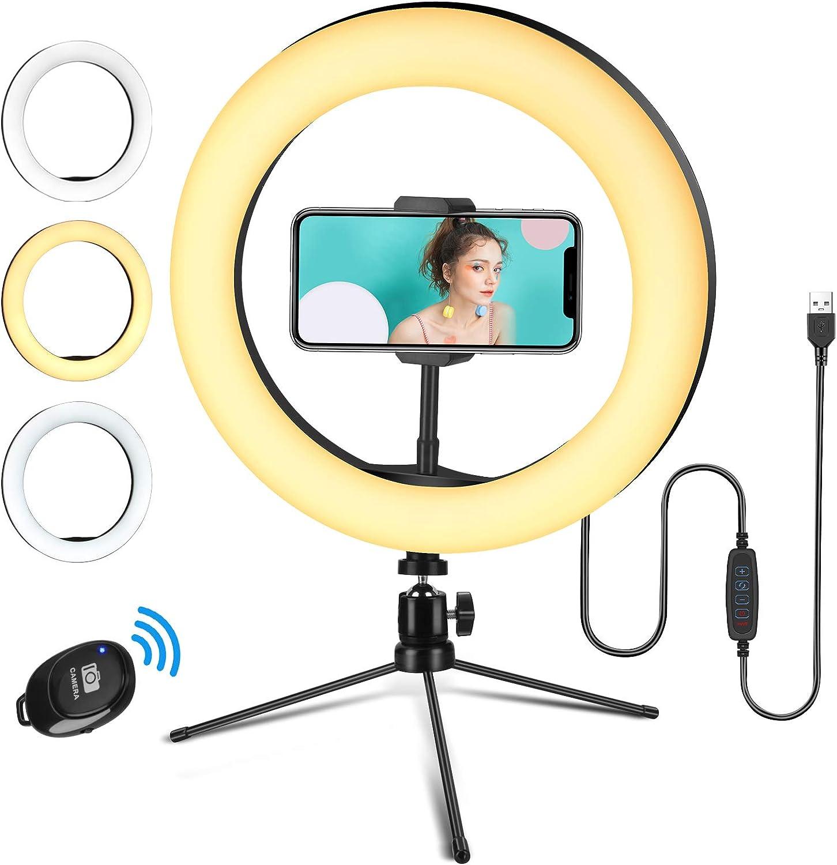 Anillo de luz Linkax con trípode y soporte para smartphones por sólo 10,49€ usando el #código: YPIGV9GD