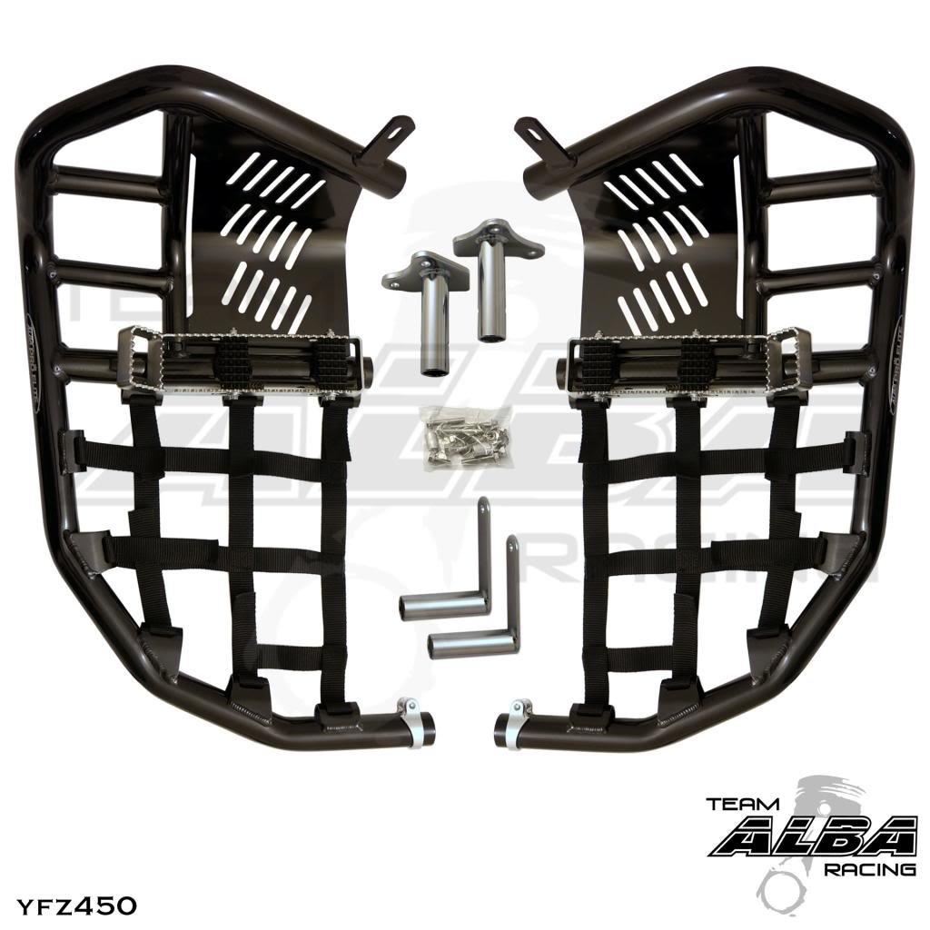 Propeg Nerf Bars Black Bars w//Black Net 2004-2009 Yamaha YFZ 450 2012-2013