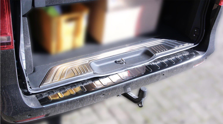 Phil Trade Protection pour seuil de coffre et pare-chocs en acier inoxydable Pour Chrom brillant