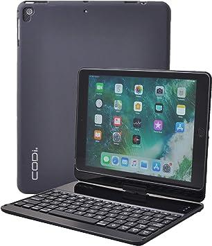 CODi C30708504 - Funda con teclado Bluetooth retroiluminado para iPad Pro de 10,5 pulgadas o 2019 iPad Air con vista giratoria de 360° y cierre seguro ...