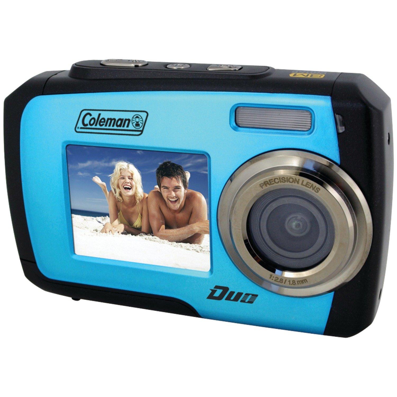 Coleman Duo 2V7WP-BL 14 Megapixel Waterproof Digital Camera with Dual LCD Screen (Blue)