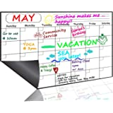 """Monthly Magnetic Dry Erase Board Calendar 2019, 15.8"""" x 11.8"""" - Your Best Month Goal Setting Planner - Fridge Magnetic Calendar Pad with Stain-Resistant Technology, Refrigerator Marker Board for Smart Planners, Whiteboard Organizer for Home, Office, School"""