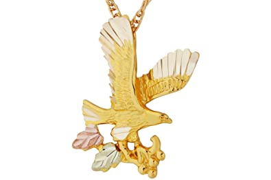 Amazon black hills gold eagle necklace pendant necklaces jewelry black hills gold eagle necklace aloadofball Image collections