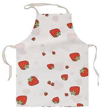 Kinderschürze Erdbeere Früchte 100 Baumwolle Schürze