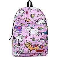"""Unicornio Colegio Mochila para niñas,Bolsos escolares para niños Mochila para Adolescentes de Regreso a la Escuela Mochilas Bolsa de Hombro de 16"""""""