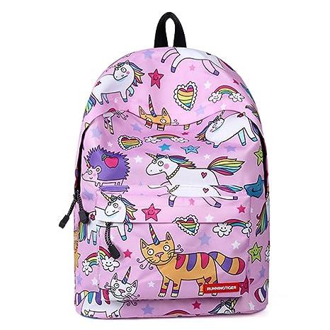 Mochila para niñas Bolso de Escuela,Mochila de Unicornio Mochila -Ideal para Niños de