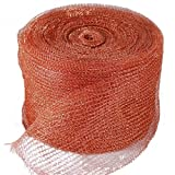 "GeBot 5"" X100FT Knitted Copper Mesh Fill Fabric DIY"