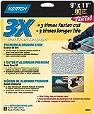 Norton 02621 3X Handy Aluminum-Oxide Sandpaper 80 Grit, 9-Inch x 11-Inch, 3-Pack