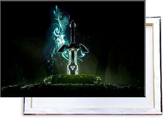 Unified Distribution Legend of Zelda Espada – imágenes e Impresiones artísticas montadas sobre Lienzo y en Calidad de impresión de Primera Clase, 100 x 70 cm: Amazon.es: Juguetes y juegos