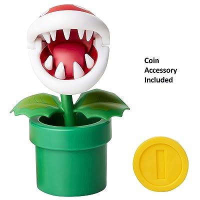 "Nintendo Super Mario Piranha Plant 4"" Articulated Figure with Coin: Toys & Games"