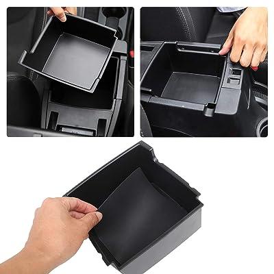 JK Center Console Organizer Tray, Armrest Storage Box for 2011-2020 Jeep Wrangler JK JKU Sport Sahara Rubicon: Automotive