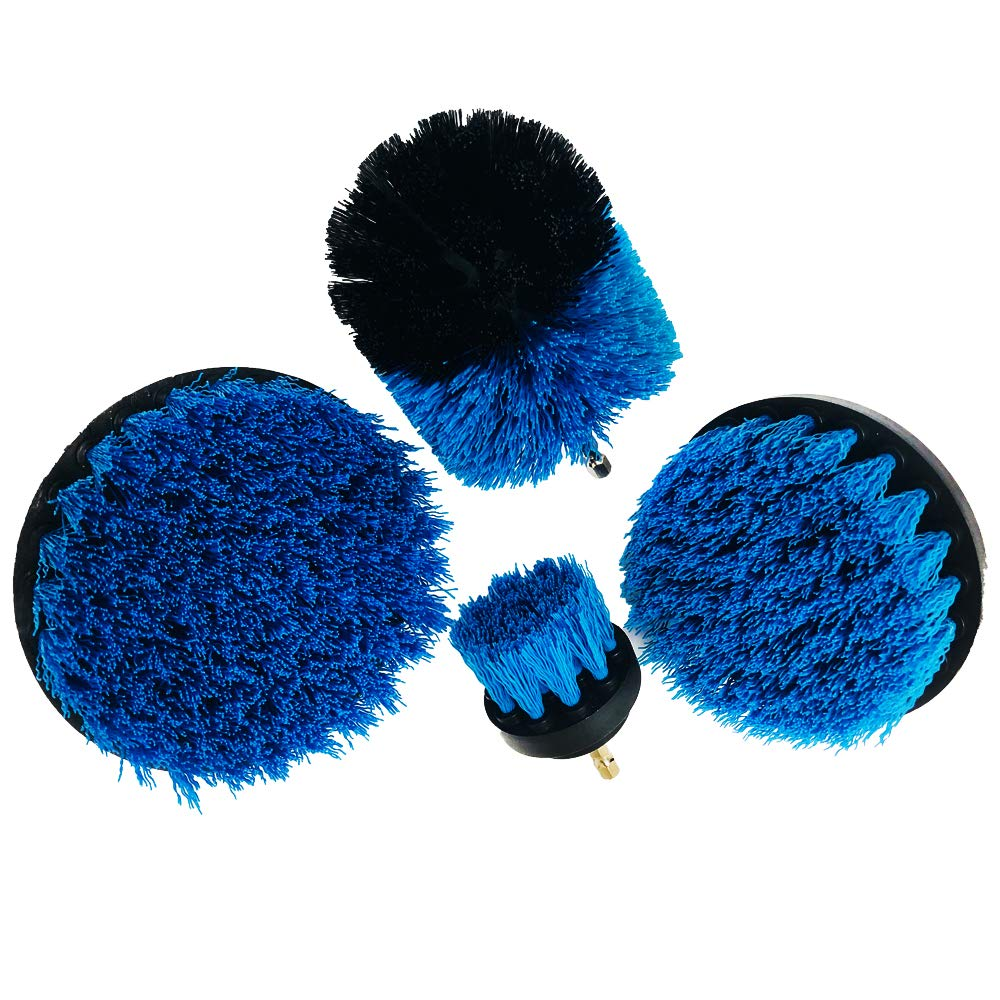 Drill Brush Set,Power Scrubbing Drill Attachment,Scrub Brush Drill Attachment Kit,Great for Cleaning Bathtubs, Shower, Sinks, Tiles and Much More-Huston Lowell (Blue)