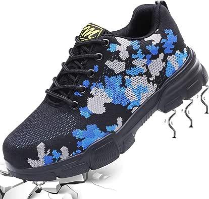 Zapatos de Seguridad Hombre Mujer Zapatos de Trabajo con Puntera ...