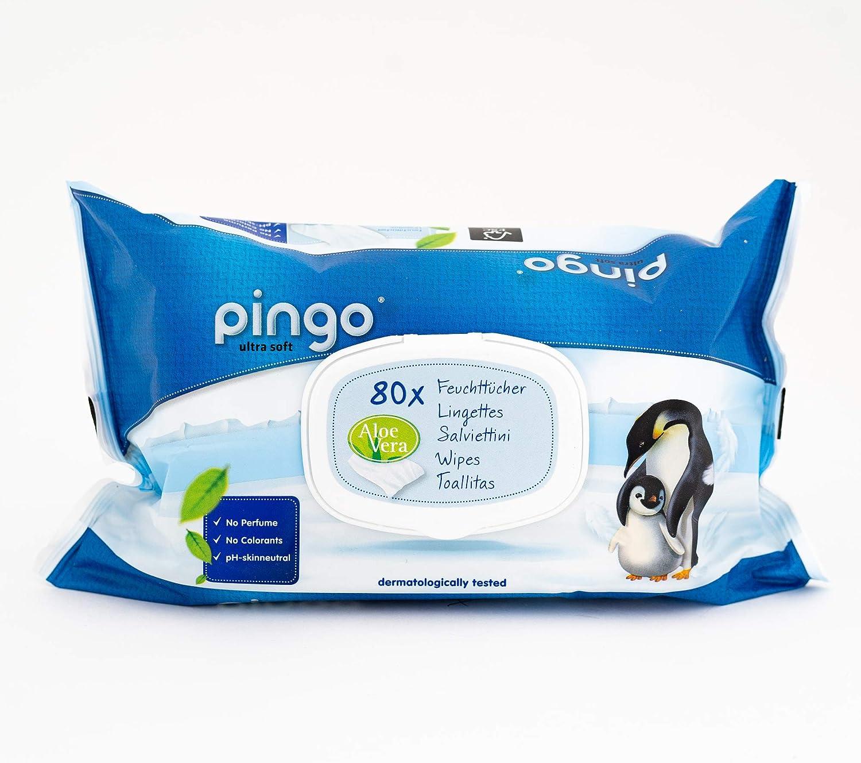 Pingo Toallitas Ecológicas Sin Perfume Caja 80 Unidades: Amazon.es: Bebé