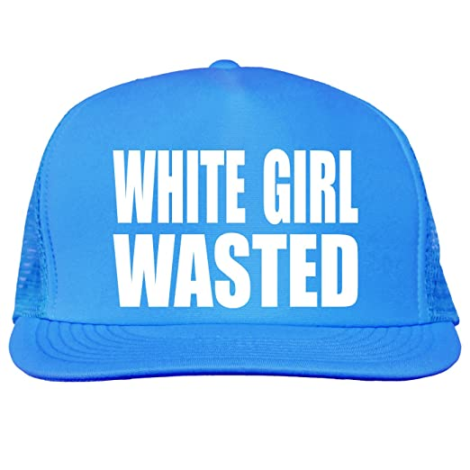 White Girl Wasted Bright neon truckers mesh snap back hat in Neon Blue -  One Size 10a59f65bf6