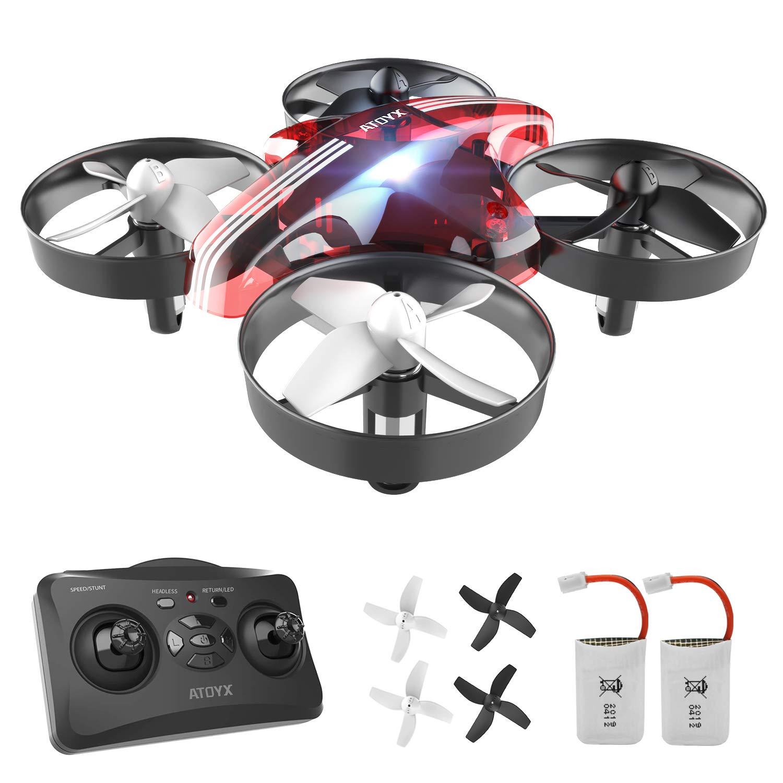 Mini Drone, AT-66 RC Drone Niños 3D Flips, Modo sin Cabeza, Estabilización de Altitud, 3 Modos de Velocidad, 4 Canales 6-Ejes