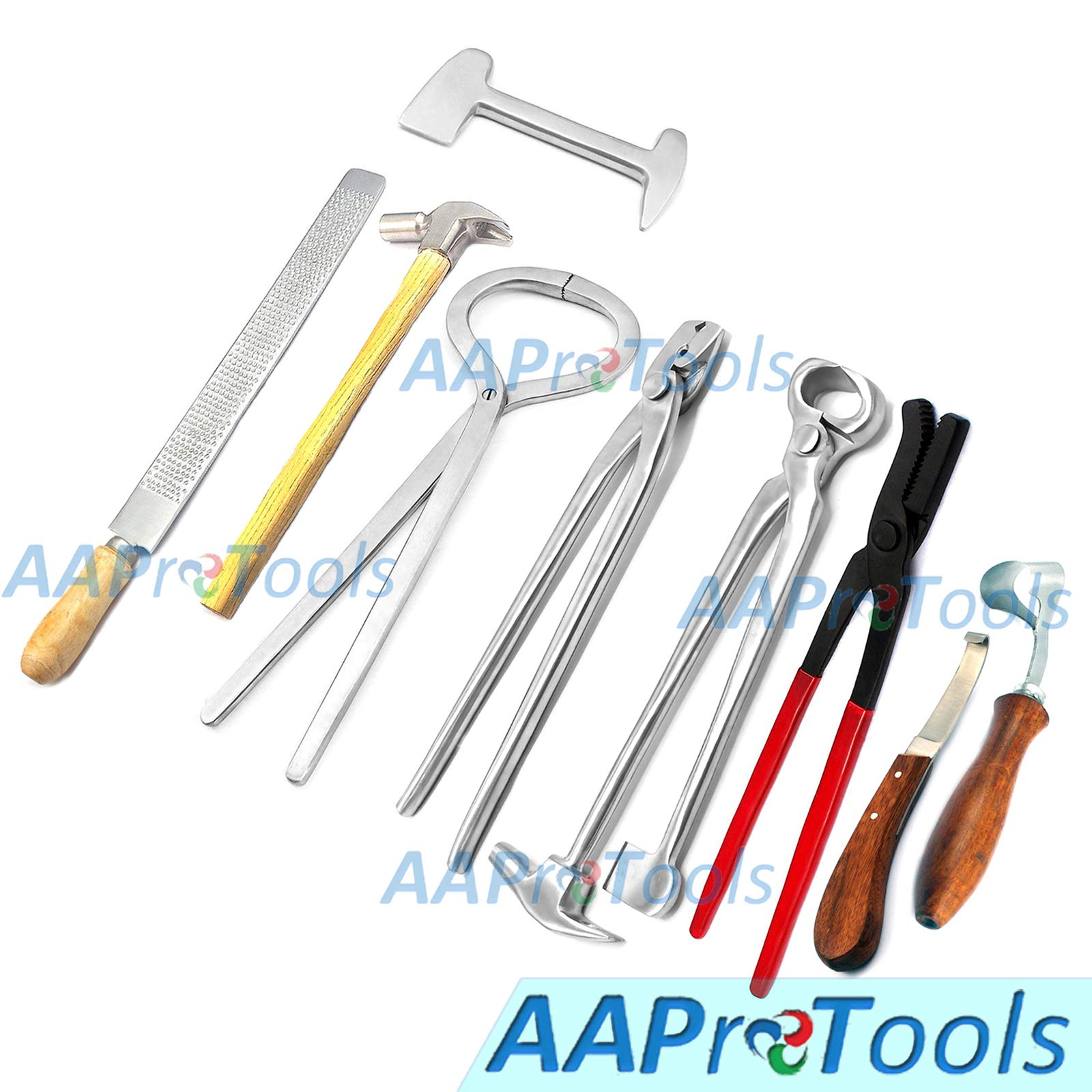 AAProTools Horse Farrier Tool Kit Grooming 9 Pieces Complete Tools Kit by AAProTools