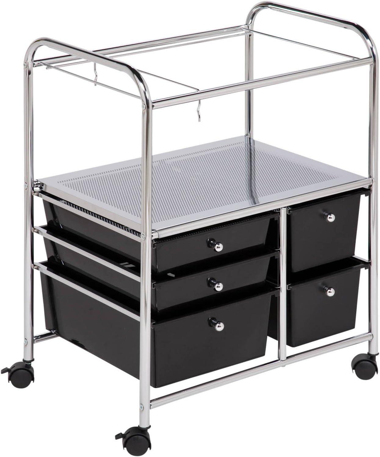 Honey can do Rolling Utility Drawer File Cart Cabinet Hanging Storage Organizer
