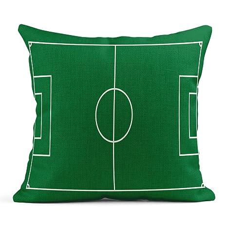 Kinhevao Cojín Fútbol Plano Verde Campo Juego de fútbol ...