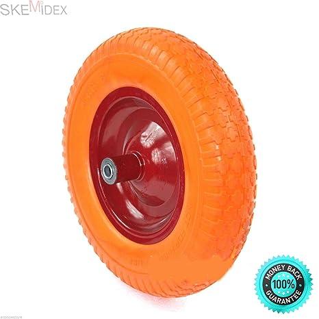 SKEMiDEX--- Carretilla de rueda plana de 40 cm con espuma de poliuretano.