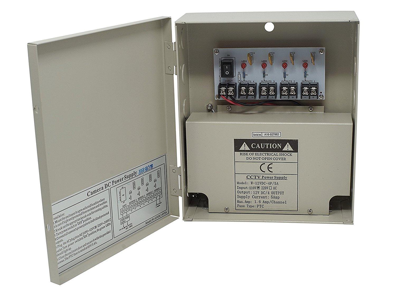 Kenuco Cctv Distributed Power Supply Box 12v Dc 9 Ac Powered Led Circuit 120w Flood Lights Enkonn Technology Co Ltd Ports 10 Amps Home Audio Theater