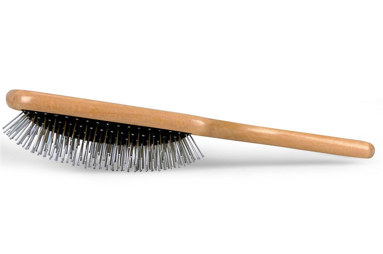 Dianyi Profesional Cepillo de Pelo Acero Inoxidable Madera Manija Natural Peine Alisador: Amazon.es: Belleza
