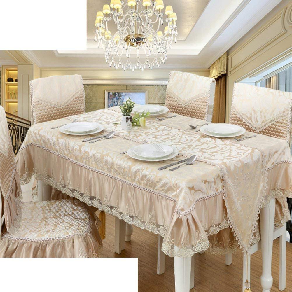 DHG Tovaglia di tessuto semplice stile europeo ordina tovaglia tovaglia di pizzo tovaglia oblunga,D, 130x180cm (51x71inch)