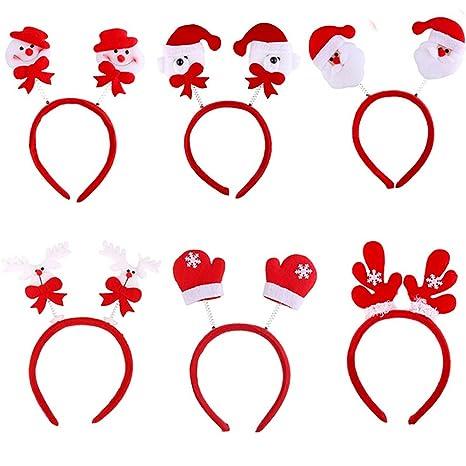 Accessori Natale.Vococal 6 Pz Natale Capelli Accessori Abbigliamento Bambino Ragazze Adulti Natale Headwear Capelli Band Natale Decorativo Fasce Casuale Style
