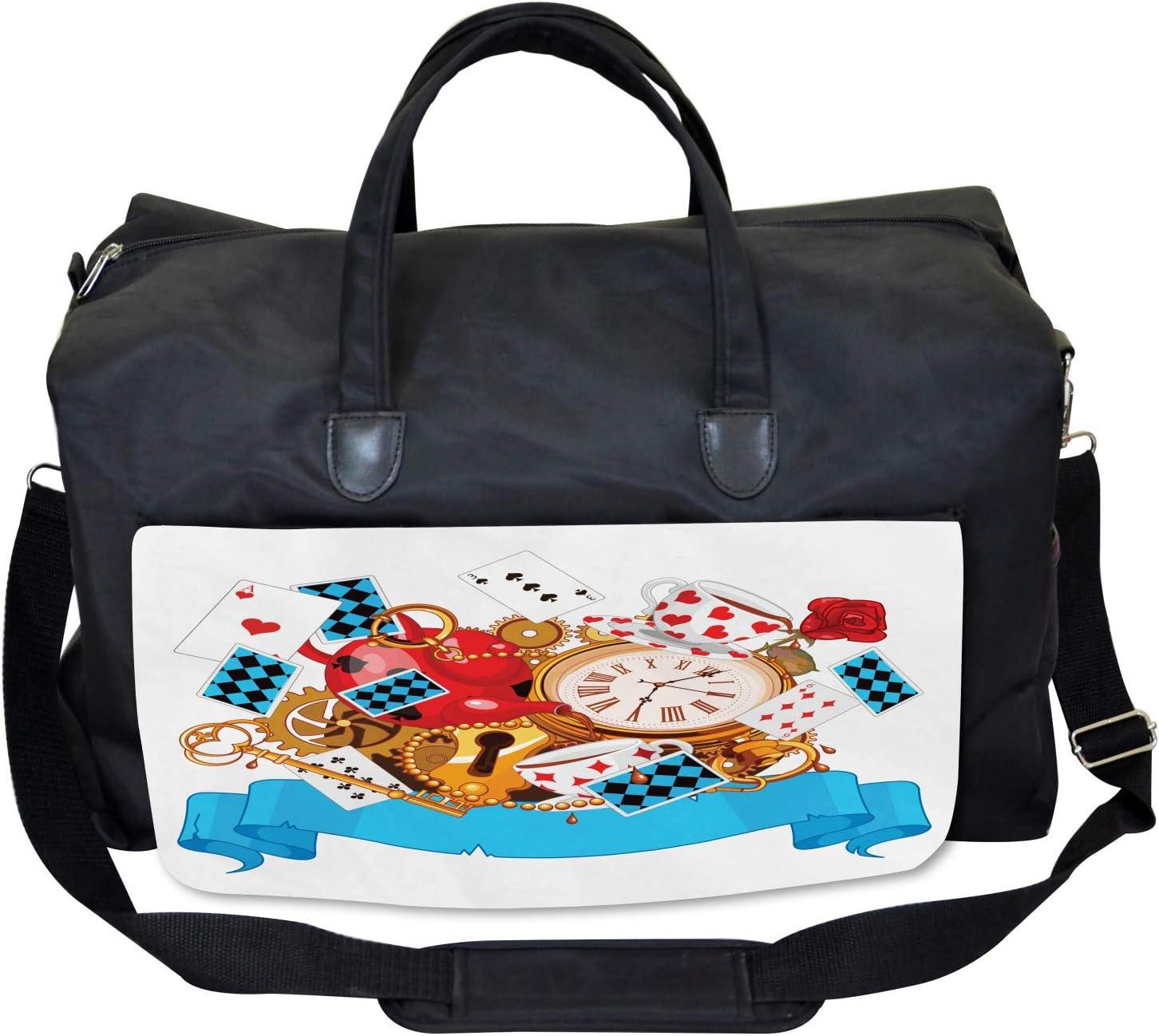 Fantasy World Large Weekender Carry-on Ambesonne Cartoon Gym Bag