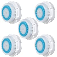 5x E-Cron Brush Heads. Replacement for Clarisonic Deep Pore Facial Cleansing. Compatible with Mia 1, 2, 3(Aria), SMART Profile, Alpha Fit, Plus, Sonic Radiance.