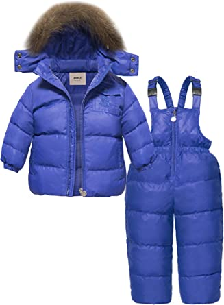 Newest Children Clothing Sets Winter Hooded Duck Down Jacket ZOEREA Girls Winter Snowsuit