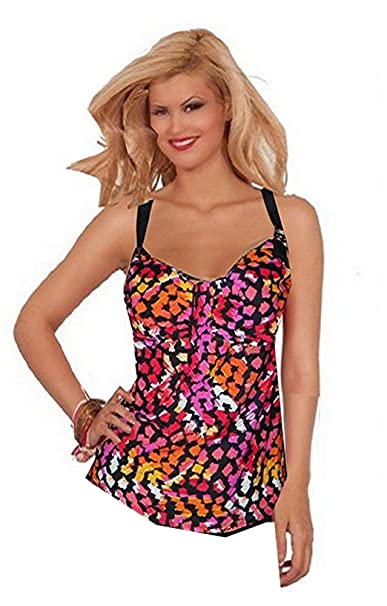75c359f23b6 Delta Burke Pieces of Color Plus Size Tankini Top Only Swimsuit (22W ...