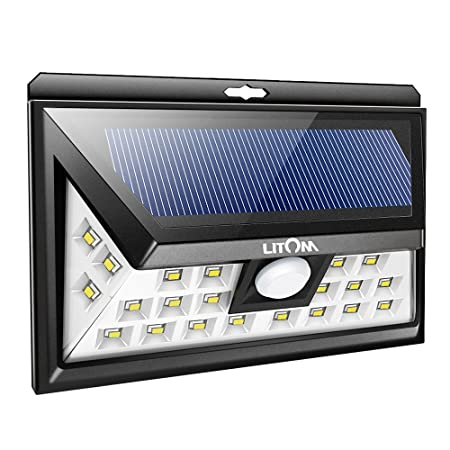 side facing litom original solar powered motion security lights