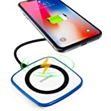 Wireless Charger iPhone X,GOODBONG Wireless Charging Pad for iPhone 8/ 8Plus iPhone X and Samsung Galaxy Note8 S8 Plus S8+ S7 S7 edge S6 S6 edge S6 edge+ Note 5 Nexus 4 5 6 7 and All Qi-Enabled Device
