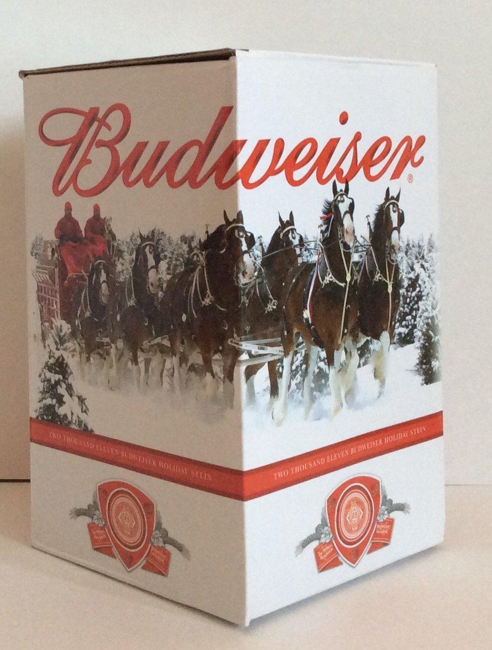 budweiser 2011 holiday stein - NIB Anheuser Busch 1061597