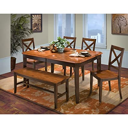 Swell Amazon Com Labelle 6 Piece Cut Corner Dining Table 4 X Squirreltailoven Fun Painted Chair Ideas Images Squirreltailovenorg