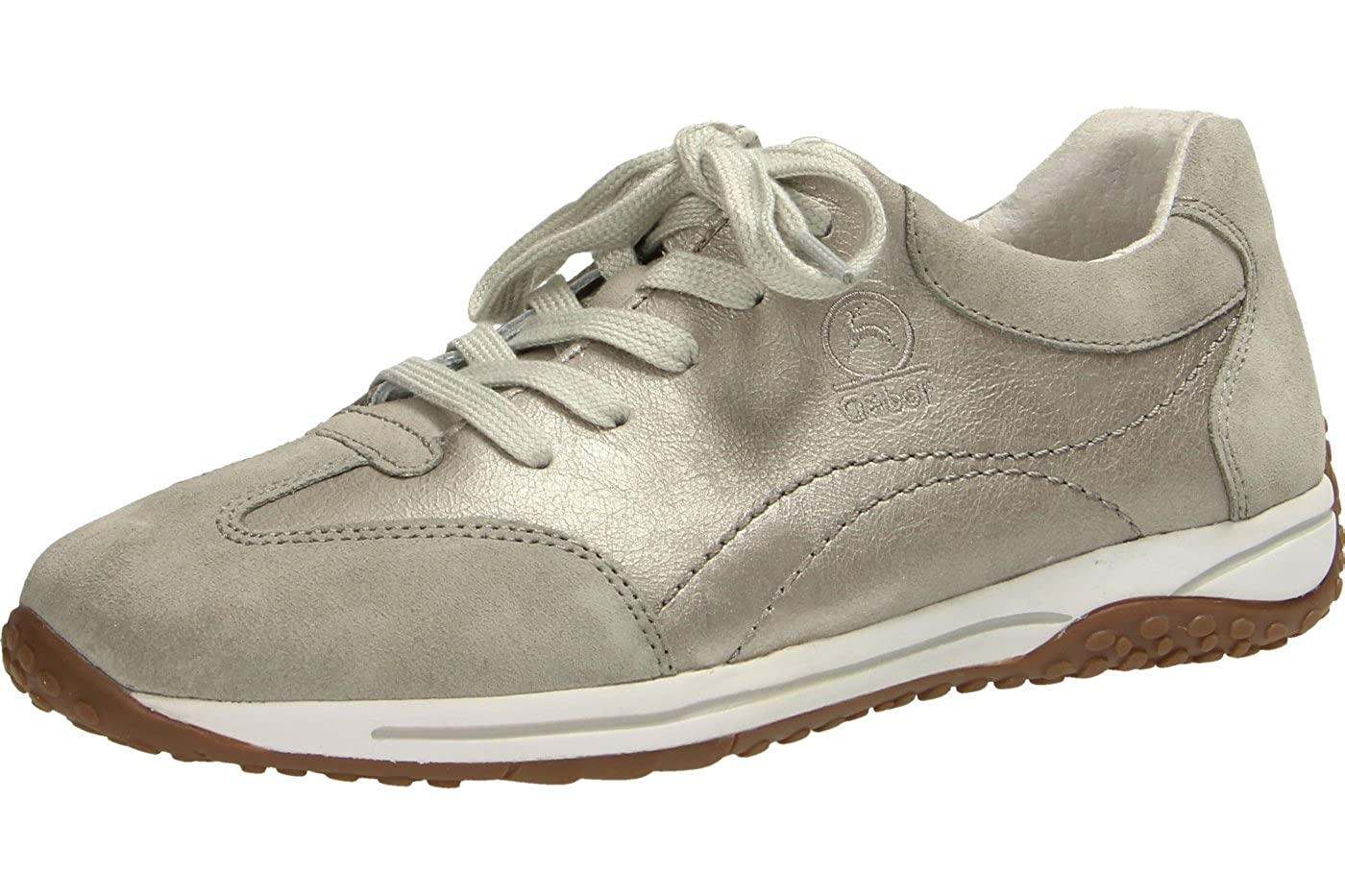Gabor Damenschuhe 66.385.36 Damen Sneaker, Schnürer, Schnürhalbschuhe, mit Reissverschluss   Reissverschluss Argento/Hellgrau 37e7c2