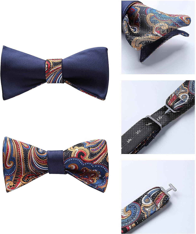 Enlision Mode Homme Double face Jacquard Self Cravate /& Pochette Pochette De Mariage