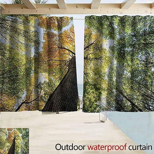 Lcxzjgk - Cortina de árbol para el hogar o el Patio con Hojas en el Bosque de