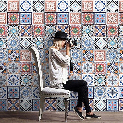 DZT1968 DZT196825Pc Self Adhesive Imitation Ceramic Tile Art Wall Sticker For Bathroom Kitchen Tiles Doors by DZT1968
