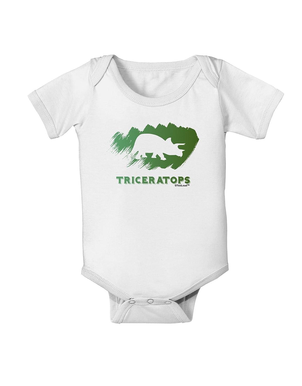 TooLoud Jurassic Triceratops Design Baby Romper Bodysuit