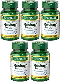 Melatonin akjOOk 3 mg, 5 Bottles (240 Count)