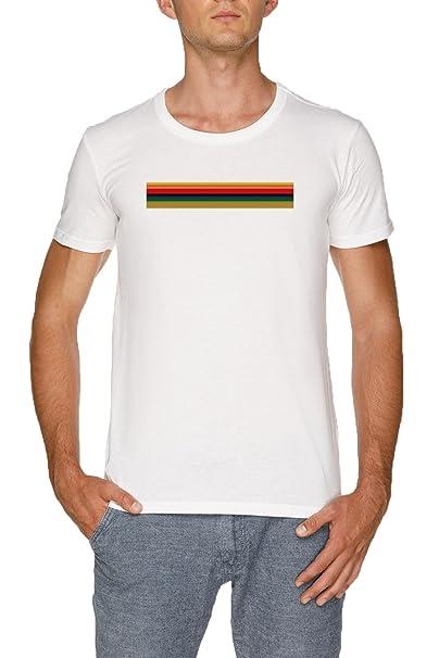 13 Doctor - Arco Iris Camisa Camiseta Blanco Hombre Tamaño XXL | Mens White T-
