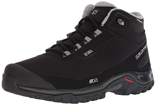 Salomon Shelter CS WP Shoes Men BlackBlackFrost Gray 2018 Schuhe