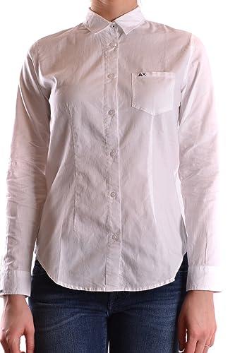 Sun 68 Mujer MCBI286031O Blanco Algodon Camisa