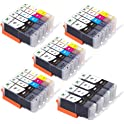 Supricolor 24 Pack PGI-250XL CLI 251XL High Yield Ink Cartridges