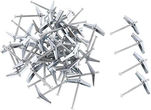 para Colgar art/ículos OTOTEC Juego de 50 Tuercas de Anclaje de Resorte M4 Resistentes a la corrosi/ón